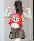 Рюкзак детский маленький, пингвин, цвет красный ( код: IBD003R ), фото 7