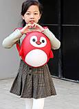 Рюкзак детский маленький, пингвин, цвет красный ( код: IBD003R ), фото 8