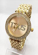 Часы женские наручные в стиле TOUS (Тоус), золотистые ( код: IBW414Y1 )