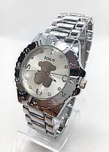 Часы женские наручные в стиле TOUS (Тоус), серебристые ( код: IBW416S )