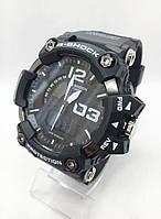 Часы мужские спортивные водостойкие G-SHOCK Casio (Касио), цвет черный с белым ( код: IBW418BO1 )