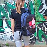 Рюкзак молодежный YouTube (Ютюб), цвет синий ( код: IBR113ZR ), фото 6