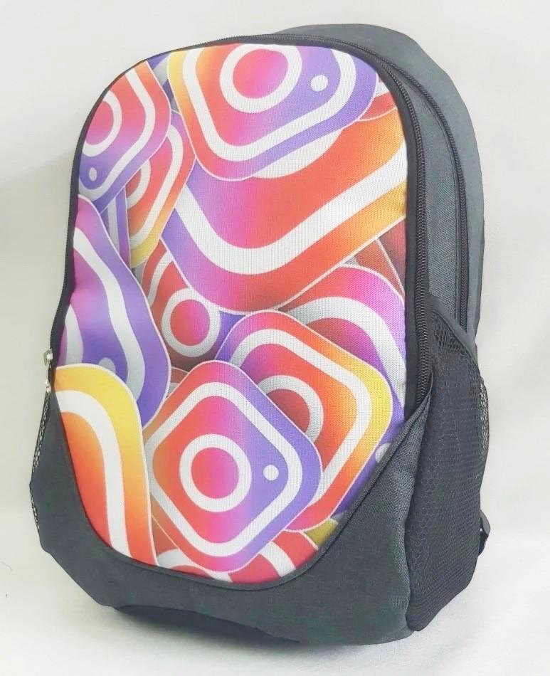 Рюкзак молодежный Instagram (Инстаграм), цвет серый ( код: IBR114S )