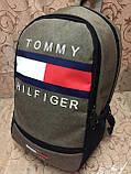 Рюкзак городской спортивный Tomy Hiifiger, в стиле Томми Хилфигер оливковый ( код: IBR096K ), фото 2