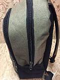 Рюкзак городской спортивный Tomy Hiifiger, в стиле Томми Хилфигер оливковый ( код: IBR096K ), фото 3