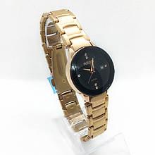 Часы женские наручные Рado, цвет золото черный циферблат ( код: IBW284YB )