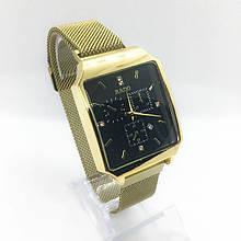 Часы женские наручные Рado, золото с черным циферблатом ( код: IBW306YB )