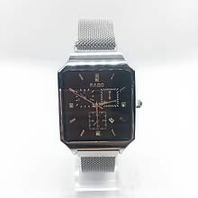 Часы женские наручные Рado, серебро с черным циферблатом ( код: IBW306SB )