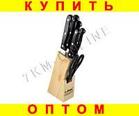 Купить оптом Набор ножей с деревянной подставкой ножи