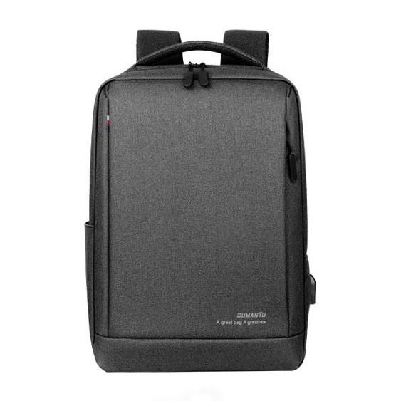 """Рюкзак противоударный для ноутбука 15,6"""" с USB, темно-серый цвет ( код: IBN010SS )"""