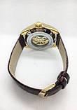 Мужские механические часы Tissot (Тиссот), золото с коричневым ремешком ( код: IBW406YKO ), фото 4