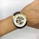 Мужские механические часы Tissot (Тиссот), золото с коричневым ремешком ( код: IBW406YKO ), фото 5