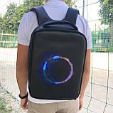 """Рюкзак городской  для ноутбука 15,6"""" с LED экраном и USB, черный цвет ( код: IBR117B ), фото 2"""