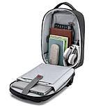 """Рюкзак городской  для ноутбука 15,6"""" с LED экраном и USB, черный цвет ( код: IBR117B ), фото 5"""