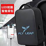 """Рюкзак городской  для ноутбука 15,6"""" с LED экраном и USB, черный цвет ( код: IBR117B ), фото 6"""