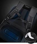 """Рюкзак городской  для ноутбука 15,6"""" с LED экраном и USB, черный цвет ( код: IBR117B ), фото 7"""
