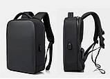 """Рюкзак городской  для ноутбука 15,6"""" с LED экраном и USB, черный цвет ( код: IBR117B ), фото 8"""