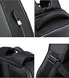 """Рюкзак городской  для ноутбука 15,6"""" с LED экраном и USB, черный цвет ( код: IBR117B ), фото 9"""