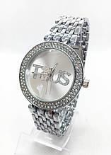 Часы женские наручные в стиле TOUS (Тоус), серебристые ( код: IBW414S )