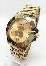 Часы женские наручные в стиле TOUS (Тоус), золотистые ( код: IBW416Y2 )