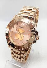 Часы женские наручные в стиле TOUS (Тоус), золотистые ( код: IBW416Y1 )