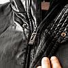Полу-пальто зимнее кожаное мужское на меху, фото 8