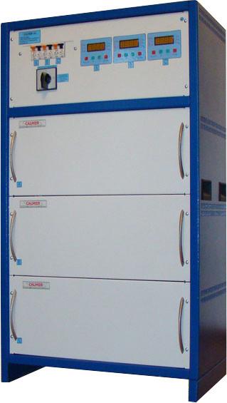 Трехфазный стабилизатор напряжения HHCТ-3x25000 CALMER (75 кВа)