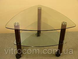 Кавовий скляний столик Дэльта-міні прозорий