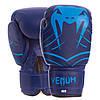 Перчатки боксерские для тренировок на липучке VENUM Искусственная кожа Синий (СПО MA-6751) 6 унций