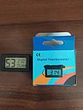 Термометр цифровой с гигрометром WSD-12 ТОЛЬКО БЕЛЫЕ, фото 3