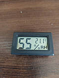 Термометр цифровой с гигрометром WSD-12 ТОЛЬКО БЕЛЫЕ, фото 2