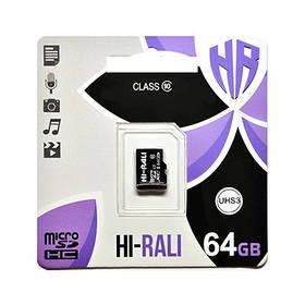 """Карта пам """" яті microSDHC (UHS-3) 64GB class 10 Hi-Rali"""