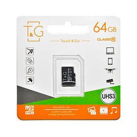 Карта пам яти microSDHC (UHS-3) 64GB class 10 T&G