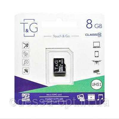 """Карта пам """" яті microSDHC (UHS-1) 8GB class 10 T&G, фото 2"""