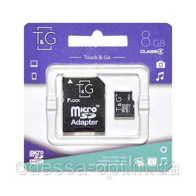 Карта пам яти microSDHC 8GB class 4 T&G, фото 2