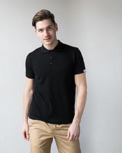 Мужская медицинская футболка поло черная размеры S - ХХL