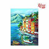 Холст на картоне с контуром, Морские пейзажи № 1, 30*40, хлопок, акрил, ROSA START, фото 2