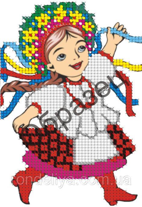 Схема для вышивки бисером «Украинка»
