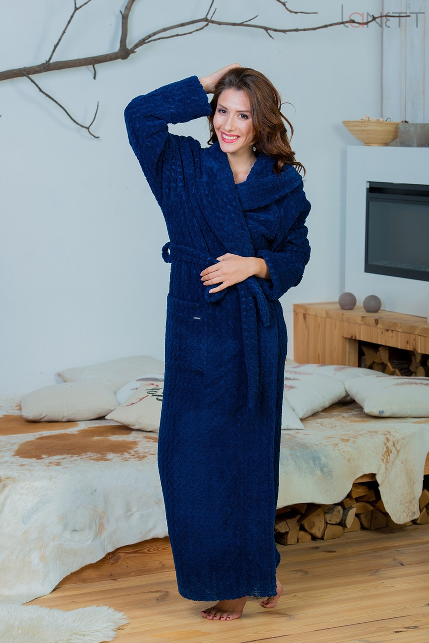 Жіночий довгий в підлогу халат Effetto 0513