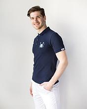 Мужская медицинская футболка поло с вышитым зубиком размеры М - ХХL