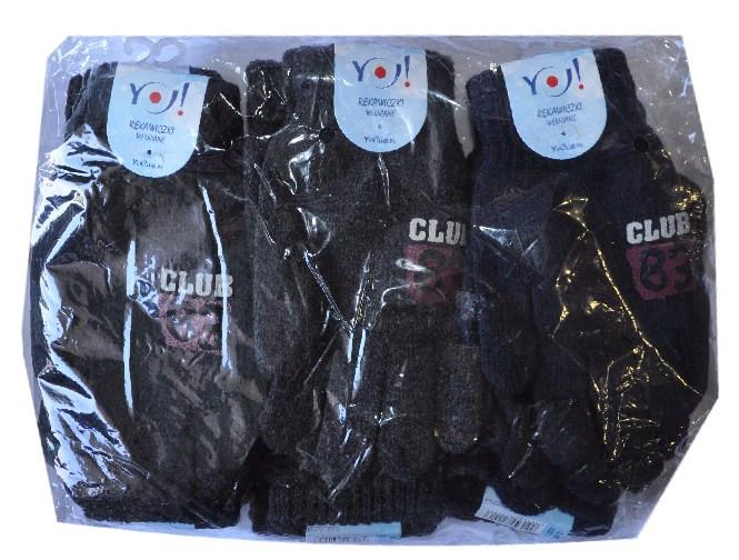 """Перчатки YO """"Clubl"""" , вязанные , шерстянные , взрослые ."""