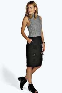 cec76c72120 Черная джинсовая юбка BooHoo  продажа