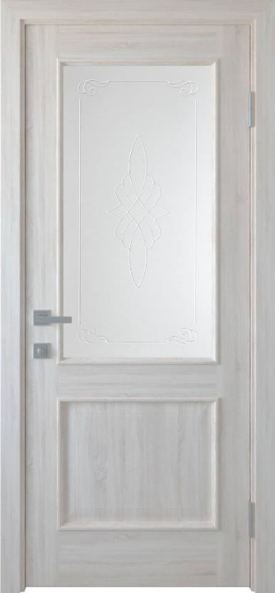 """Дверь межкомнатная остеклённая с рисунком новый стиль Интера """"Вилла Р1"""" 60,70,80,90 см ясень new"""