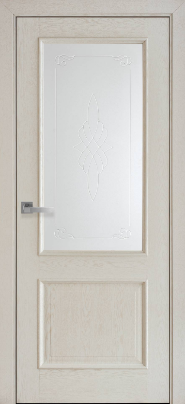 """Дверь межкомнатная остеклённая с рисунком новый стиль Интера """"Вилла Р1"""" 60,70,80,90 см патина"""