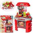 Кухня красная с посудкой 008-908 кофеварка, тостер, продукты и аксессуарами, свет, звук, игровой, фото 3
