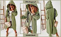 Модная куртка в стиле парка с капюшоном и молнией, Куртка весенне осенняя женская демисезонная.
