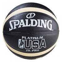Мяч баскетбольный Spalding Platinum USA №7, черный