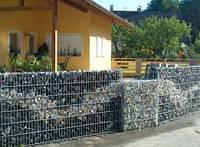 Габион - декоративный забор из камня