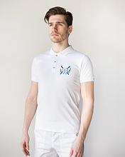 Мужская медицинская футболка поло с вышивкой для стоматолога размеры М - ХХL