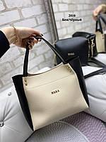 Женская сумочка+клатч Беж-Черный. Шикарная сумочка клатч Zara. Комплект женская сумка Zara Зара и клатч., фото 2